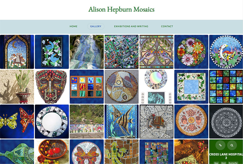 Alison Hepburn Mosaics - website design by The Big Ideas Collective