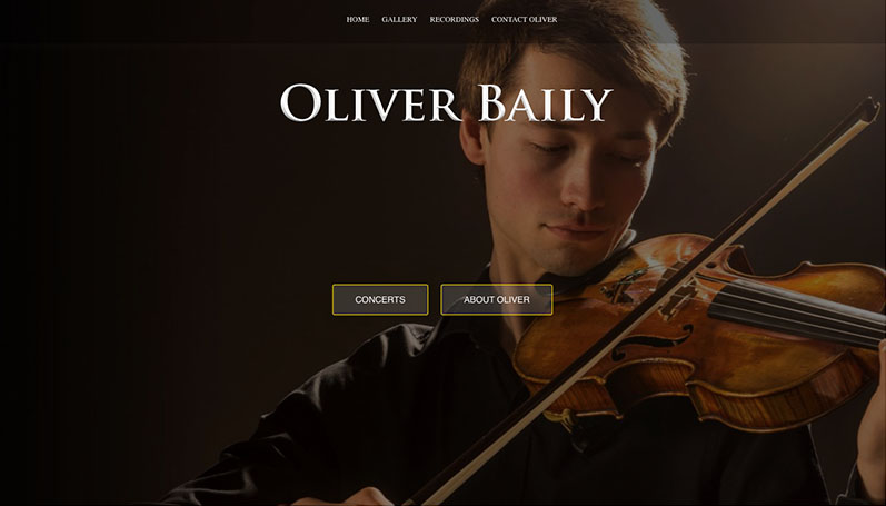 Oliver Baily - website design by The Big Ideas Collective