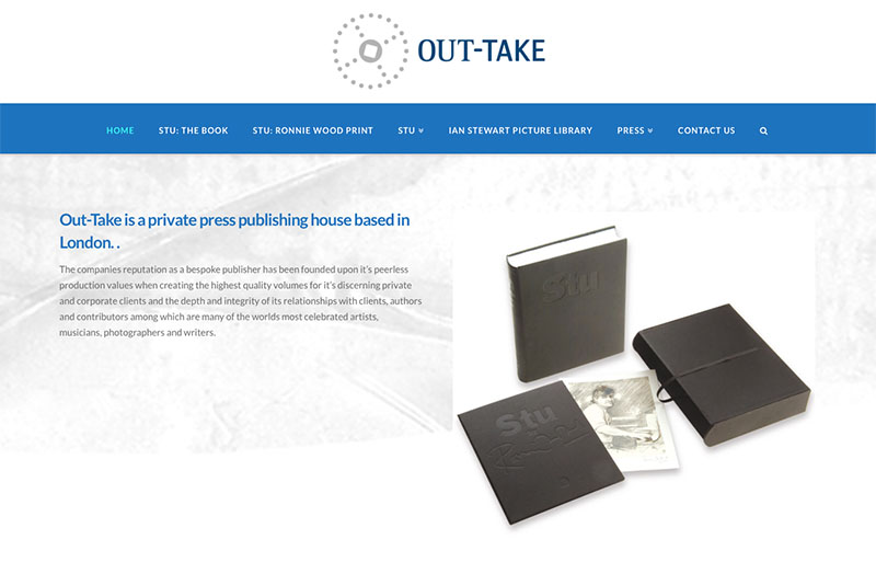 Out Take Publishing - website design by The Big Ideas Collective