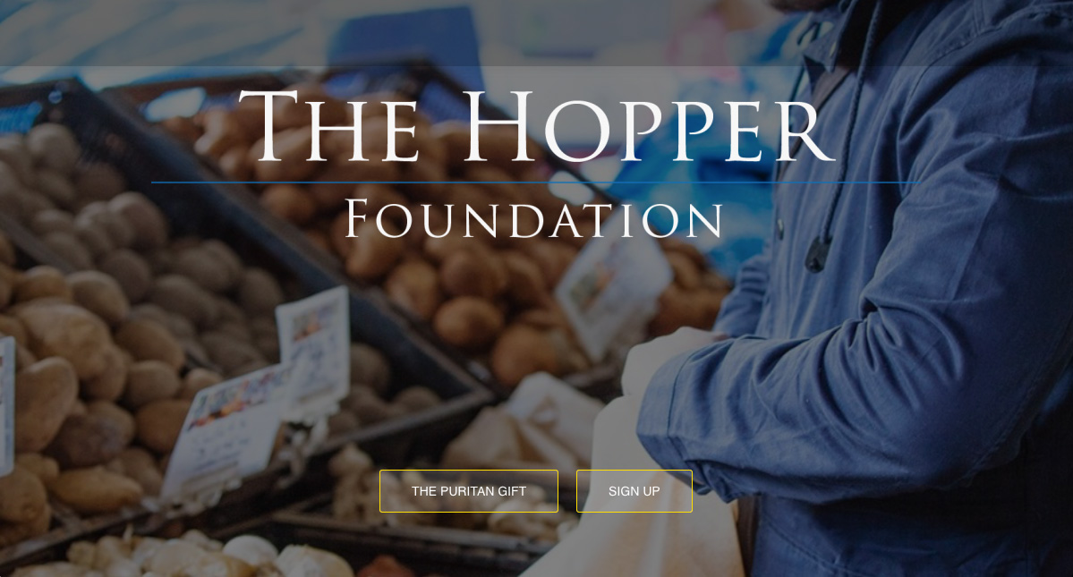 The Hopper Foundation - website design by The Big ideas Collective