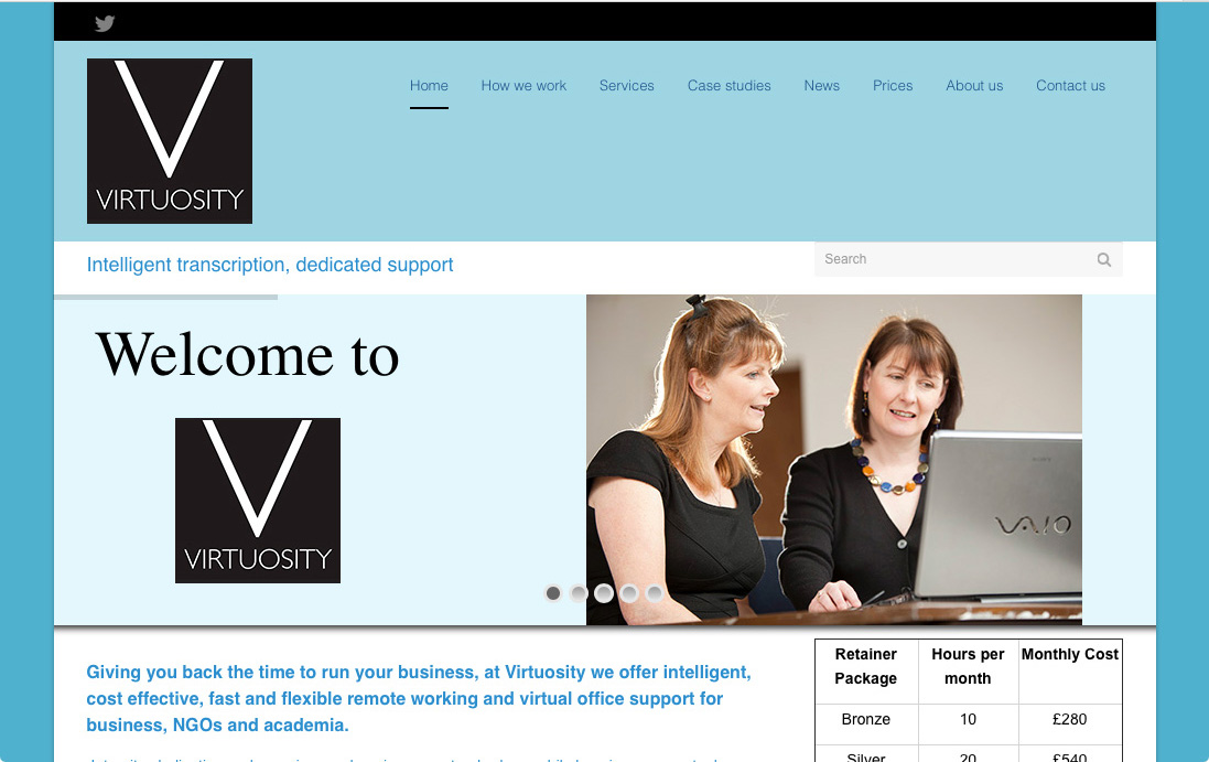 Virtuosity website design | The Big Ideas Collective