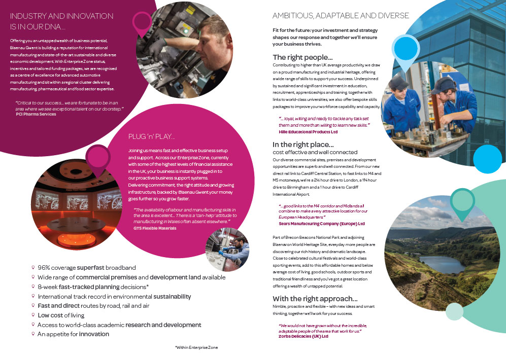 Blaenau Gwent Inward Investment Brochure 2016 - copywriting The Big Ideas Collective