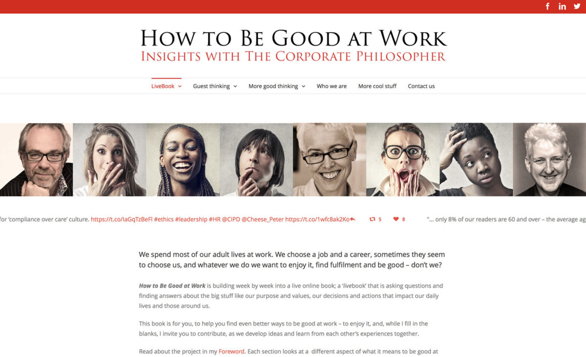 'How to Be Good at Work' | website design | The Big Ideas Collective